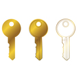 house key one vector image