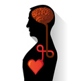 Heart and Brain vector image vector image