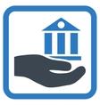 Bank Service Flat Icon vector image