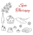 Beautiful woman spa stone vector image