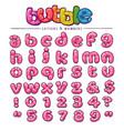 cartoon bubblegum font vector image
