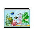 Cartoon fishes in aquarium Saltwater or vector image