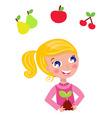 cute little gardener child vector image