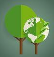 Green Eco Earth Tree shaped world map vector image