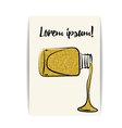 Nail polish gold glitter shiny card vector image
