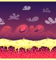 seamless cartoon fantastic landscape vector image