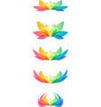 set flower head vector image