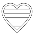 Heart LGBT icon outline style vector image