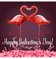 Valentine Day greeting card or poster design vector image vector image