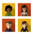 people character female male image vector image