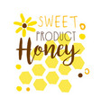 honey sweet product logo colorful hand drawn vector image
