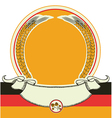 Beer label with German flag oktoberfest symbol vector image vector image