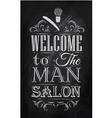 Barbershop Poster chalk vector image
