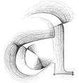 Sketch font Letter a vector image