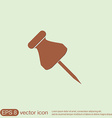 pin for papers symbol icon office supplies vector image