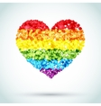 Rainbow Button Heart LGBT Background vector image vector image