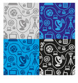 web technology seamless pattern vector image vector image