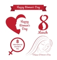 happy womens day design vector image vector image
