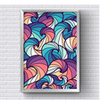 art abstract painting picture with rainbow vector image