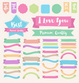 Set of painted brush style banner vector image vector image