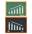 blackboards with hand drawn graphs vector image vector image