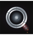 Speaker double ring over metal background vector image vector image