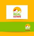 real estate logo identity vector image vector image