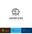 house icon home logo construction and real vector image