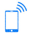 mobile wi-fi signal grunge icon vector image
