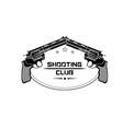 shooting club emblem logo vector image