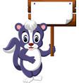 skunk cartoon vector image