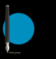 Stylized writing pen variation 1 vector image