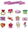 Element valentine day set various vector image