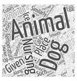 Nursing a sick dog Word Cloud Concept vector image