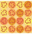 grunge pattern with maple leaves vector image