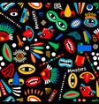 tribal monster seamless pattern vector image