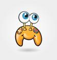 cheerful cute gamepad funny vector image