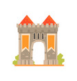medieval gate and two guard towers ancient vector image