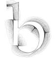 Sketch font Letter b vector image vector image