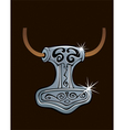 Thor hammer vector image vector image