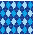 Argyle pattern blue rhombus seamless texture vector image