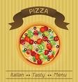 Italian Tasty Pizza Menu vector image