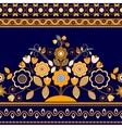 Golden decorative seamless border vector image vector image