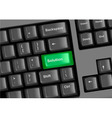 keyboard with solution vector image vector image