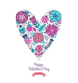 Floral heart Heart made of flowers vector image vector image