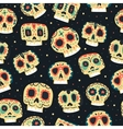 cartoon flat Dead day seamless pattern vector image
