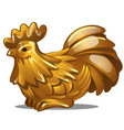 golden figure of rooster chinese horoscope symbol vector image