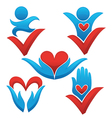 love life and health signs symbols and concepts vector image