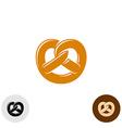 Pretzel bakery logo vector image