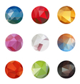 Set from triangle colored abstract in a circle fra vector image
